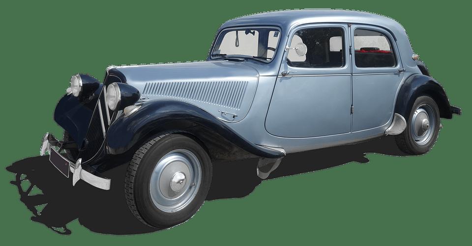 Photographie d'une ancienne Traction Avant de Citroën illustrant l'article d'Adesa sur les Citroën d'occasion